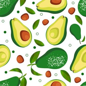 Naadloze patroon van avocado