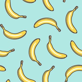 Naadloze patroon van bananen