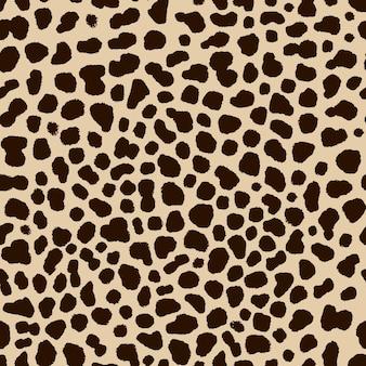 Naadloze patroon van cheetah huid in de hand tekening stijl illustratie