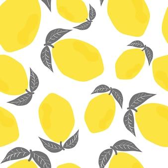 Naadloze patroon van citroenen
