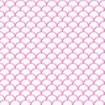 Naadloze patroon van de kleine zeemeermin