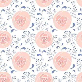 Naadloze patroon van delicate roze toppen. bloemenprint voor achtergrond, behang, stof, verpakking, behang.