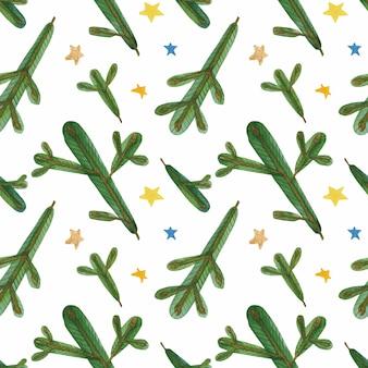 Naadloze patroon van kerstmis het groene takken