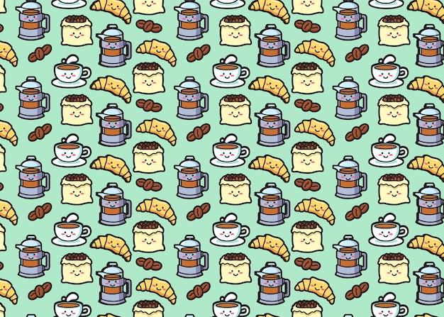 Naadloze patroon van koffie