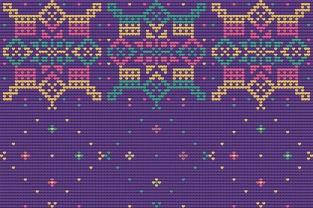 Naadloze patroon van lelijke kersttrui, lavendel kleur