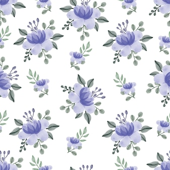 Naadloze patroon van paarse bloemen