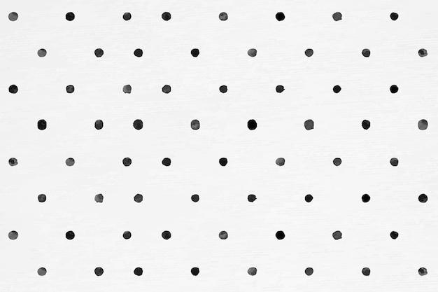 Naadloze patroon van polka dot vector inkt borstel achtergrond