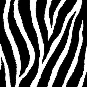 Naadloze patroon van zebrahuid in doodle vintage design