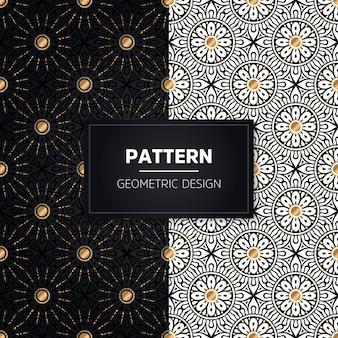 Naadloze patroon. vintage decoratieve elementen. hand getekend gouden ornamenten.