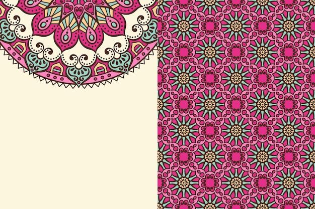 Naadloze patroon. vintage decoratieve elementen. hand getrokken achtergrond