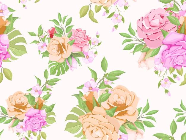 Naadloze patroon zomer bloemen