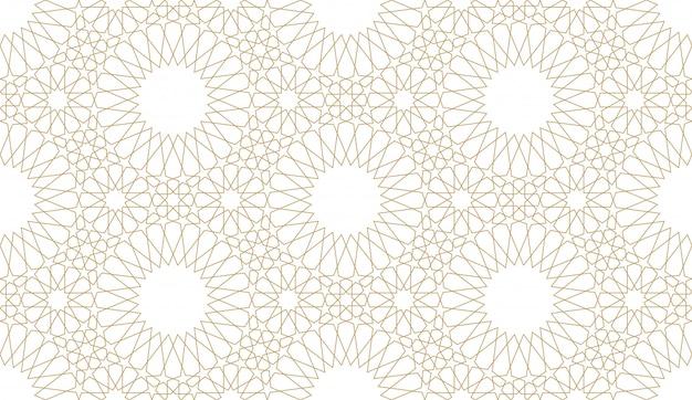 Naadloze patroonachtergrond in authentieke arabische stijl.