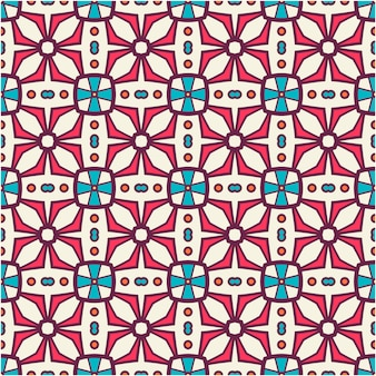 Naadloze patroonachtergrond met decor
