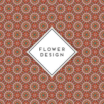 Naadloze patroonachtergrond met mandala arabisch ontwerp