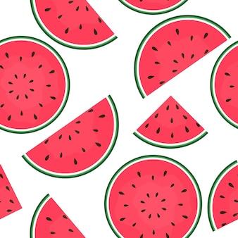 Naadloze patroonachtergrond met watermeloen. vectorillustratie. eps10