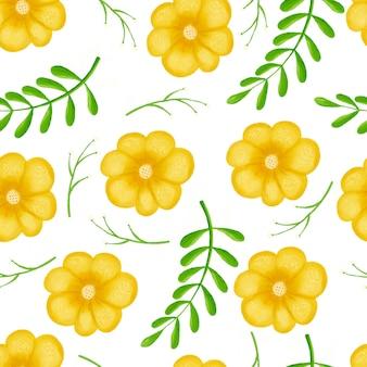 Naadloze patroonbloemen, bos groene, grijze bladerenslinger, witte achtergrond.