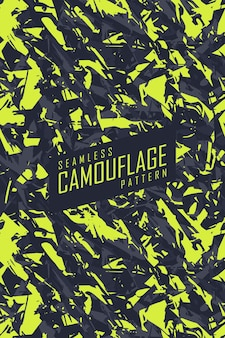 Naadloze patrooncamouflage voor extreem jerseyteam, racen, fietsen, leggings, voetbal, gaming