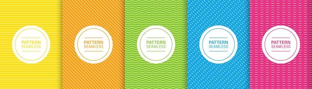 Naadloze patroonlijn. kleurrijk stijlvol met dun gestreept. lijnstijl streeppatroon.