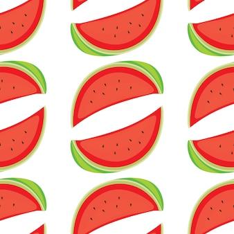 Naadloze patroontegel cartoon met watermeloen