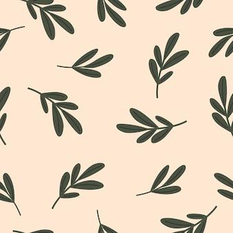 Naadloze pattern.floral stijl op neutrale achtergrond. vectorillustratie