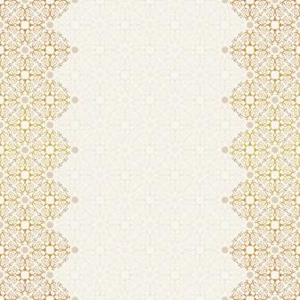 Naadloze rand in patroon in oosterse stijl