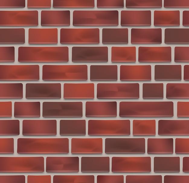 Naadloze rode bakstenen muur textuur