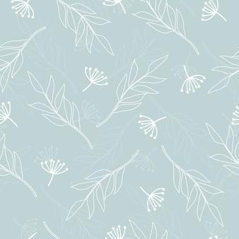 Naadloze schattig linnen bloemmotief achtergrond