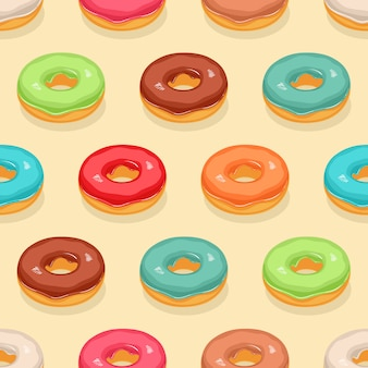 Naadloze schattige donuts