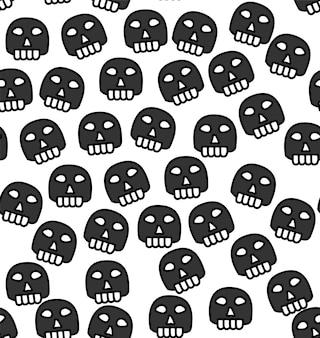 Naadloze schedel patroon