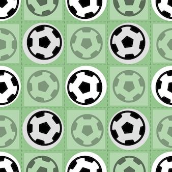 Naadloze sport patroon op groene achtergrond van voetbal