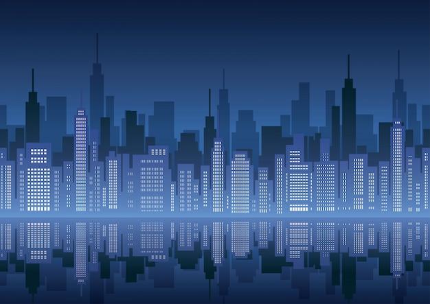 Naadloze stadsgezicht