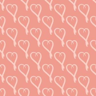 Naadloze stijlvolle patroon met pastel hand getekende harten. vector illustratie