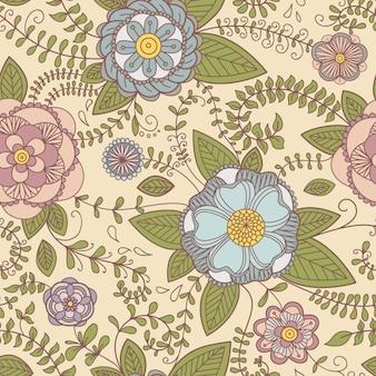 Naadloze structuur met bloemen