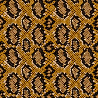 Naadloze structuurpatroon van krokodil of slangenleer, grunge vector background