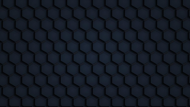 Naadloze structuurpatroon zwart veelhoekige papier
