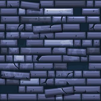 Naadloze textuur die blauwe oude steenmuur plaatst
