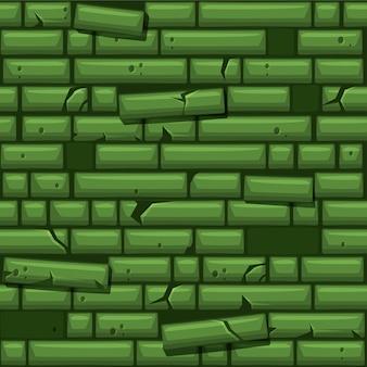 Naadloze textuur die groene oude steenmuur plaatst