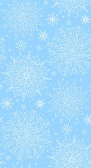 Naadloze textuur met maaswerk wintersneeuwvlokken voor uw creativ