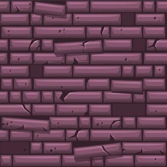 Naadloze textuur paarse oude stenen muur te plaatsen