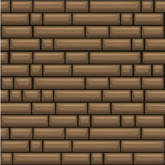 Naadloze textuur plaatsen bruine stenen muur,