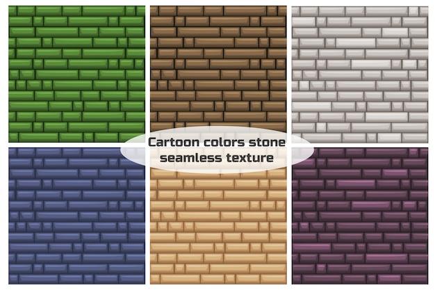 Naadloze textuur verschillende kleur stenen muur