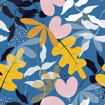 Naadloze trendy floral oppervlaktepatroon achtergrond