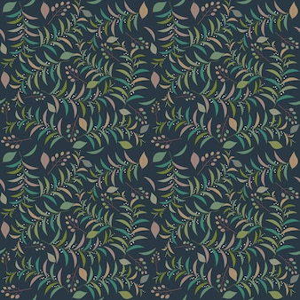 Naadloze tropische bladeren patroon vectorillustratie