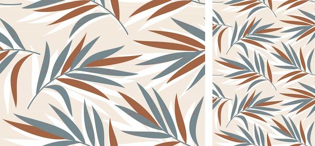 Naadloze tropische patroon met palmbladeren