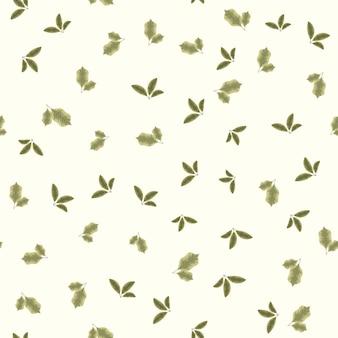 Naadloze vector patroon natuur bladeren geschikt om af te drukken op textiel