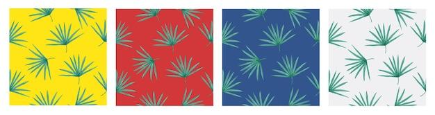 Naadloze vector tropische patroon met palmbladeren op witte achtergrond