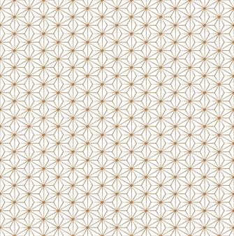Naadloze vintage japanse asanoha isometrische vector patroon
