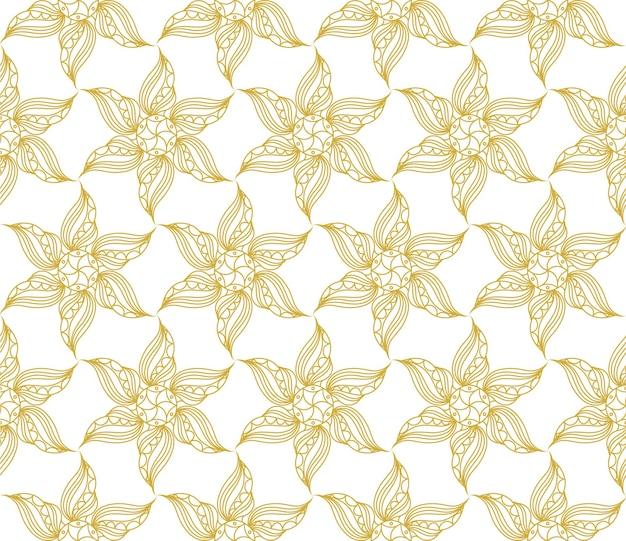 Naadloze vintage patroon in gouden kleur
