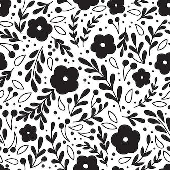 Naadloze vintage patroon met bloem