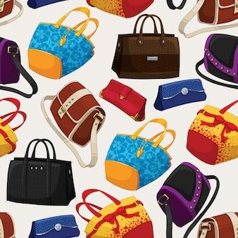 Naadloze vrouw mode tassen patroon